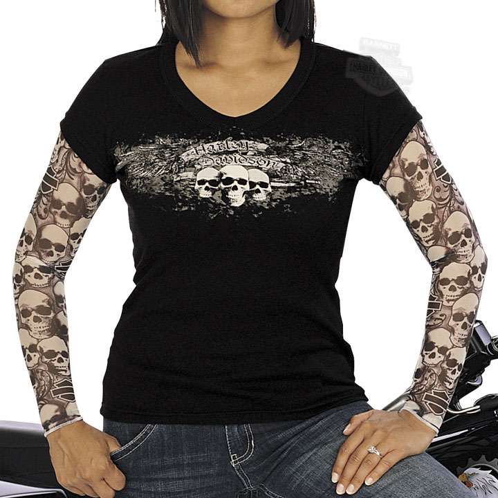Pin harley davidson tattoo sleeve shirt pictures on pinterest for Tattoo shirts long sleeve