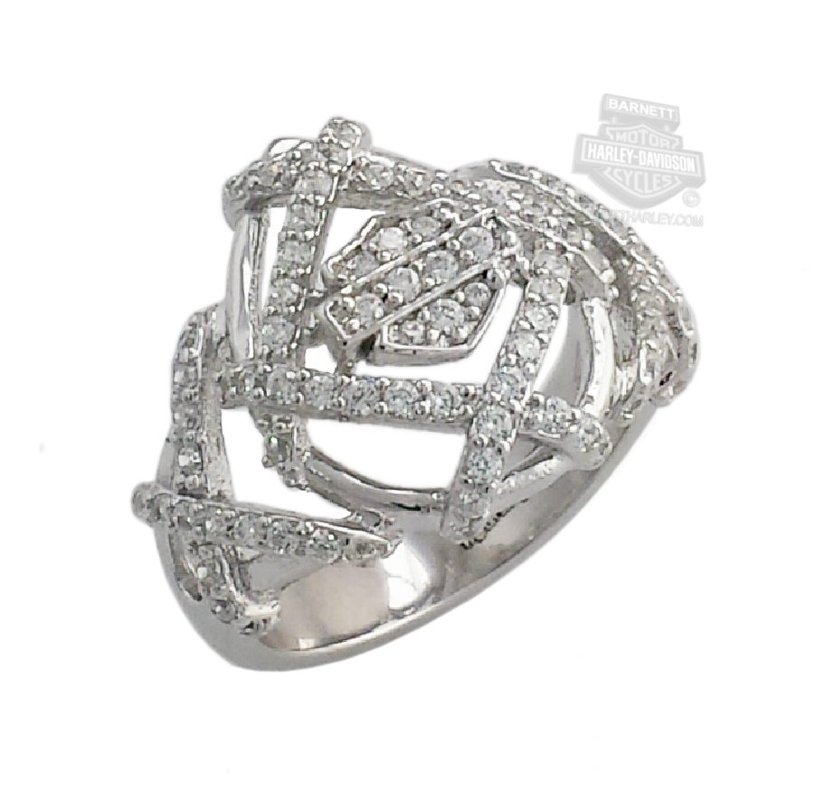RCR0030 HarleyDavidson Womens Hash Tag Bling BS Ring by Stamper