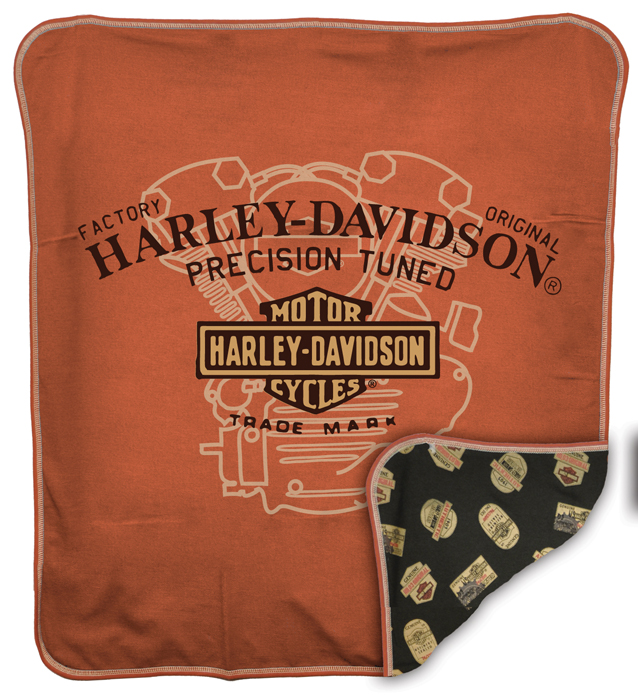 harley davidson boys baby precision tuned knit reversible blanket