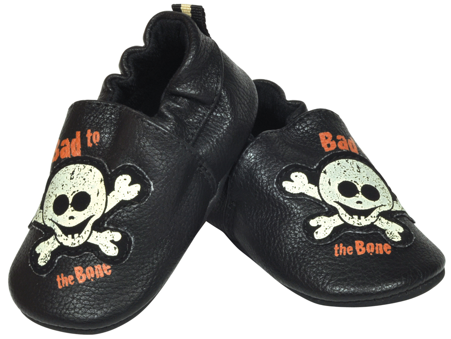 Harley-Davidson® Boys Baby Bad to the Bone Baby Slippers with Box Black *CI1*