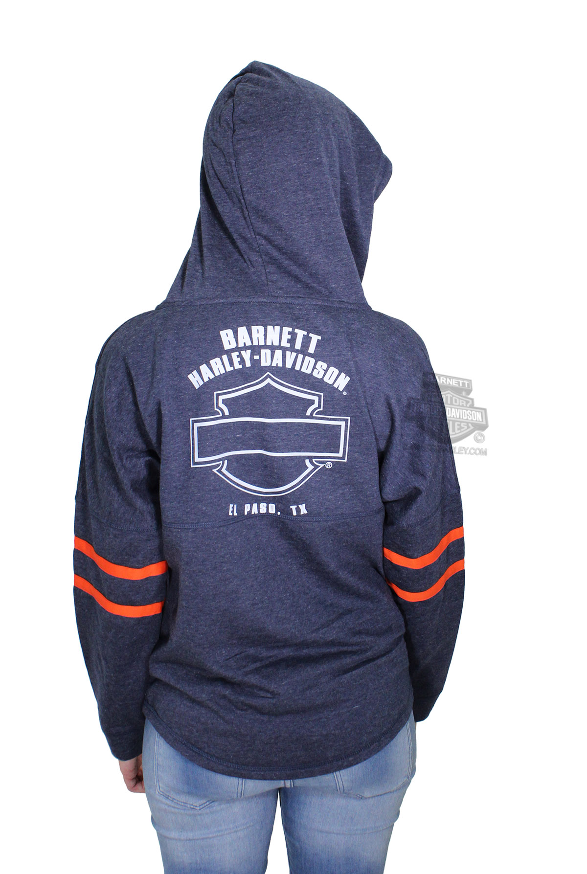 harley davidson womens cozy drop shoulder pullover navy. Black Bedroom Furniture Sets. Home Design Ideas