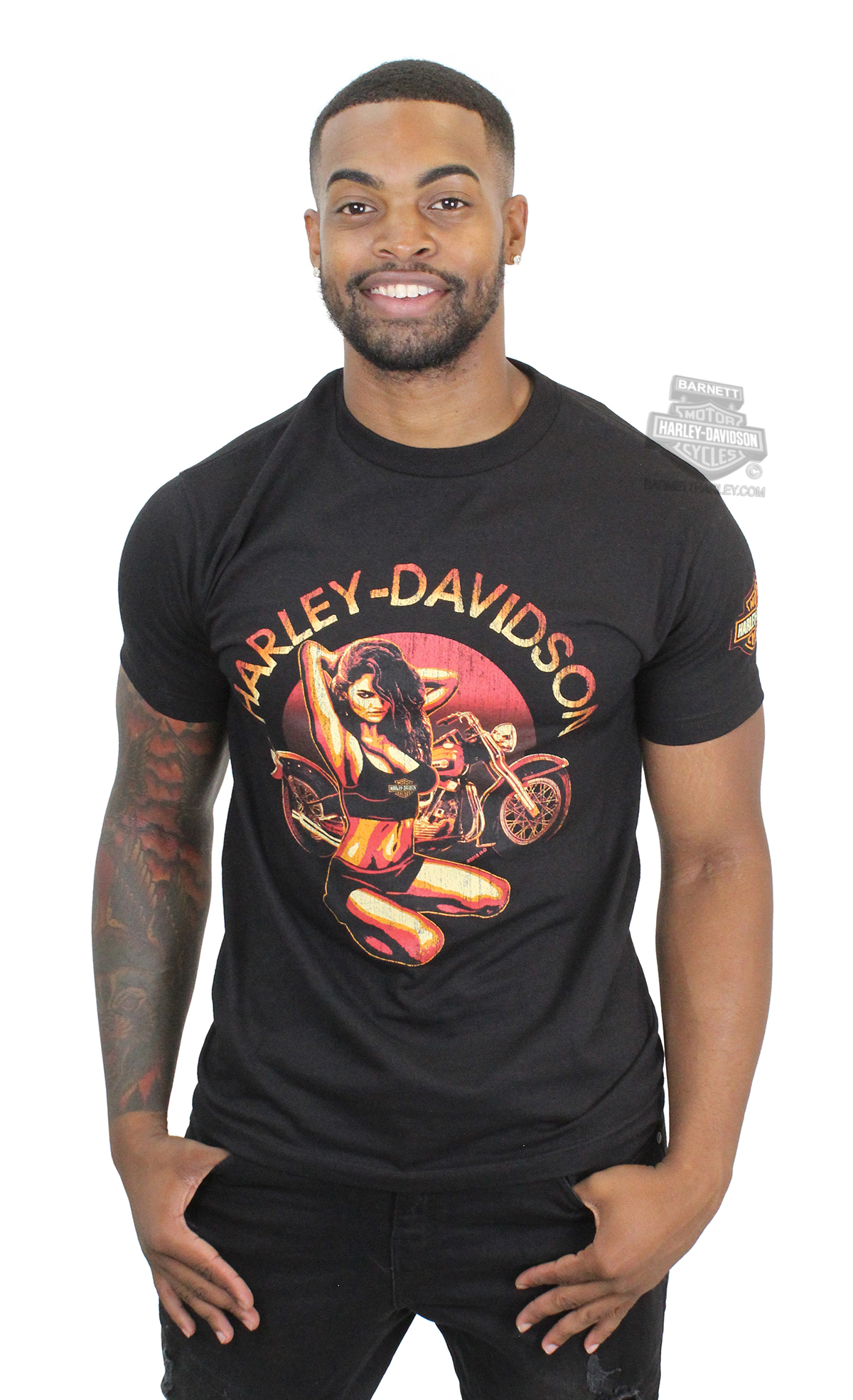 harley davidson up clothes girls on pin
