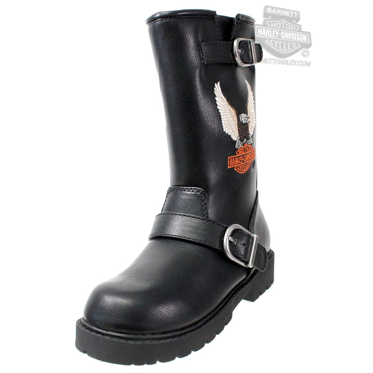 Harley-Davidson® Boys Youth Engineer Eagle with B&S Black Boot