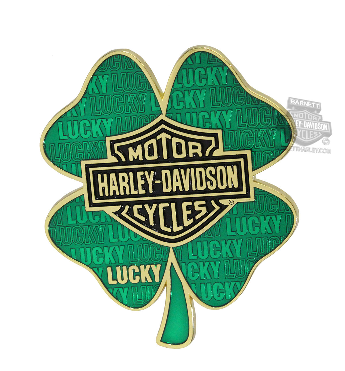 Harley-Davidson® Mens Lucky Clover with B&S Heavy Duty Green Magnet