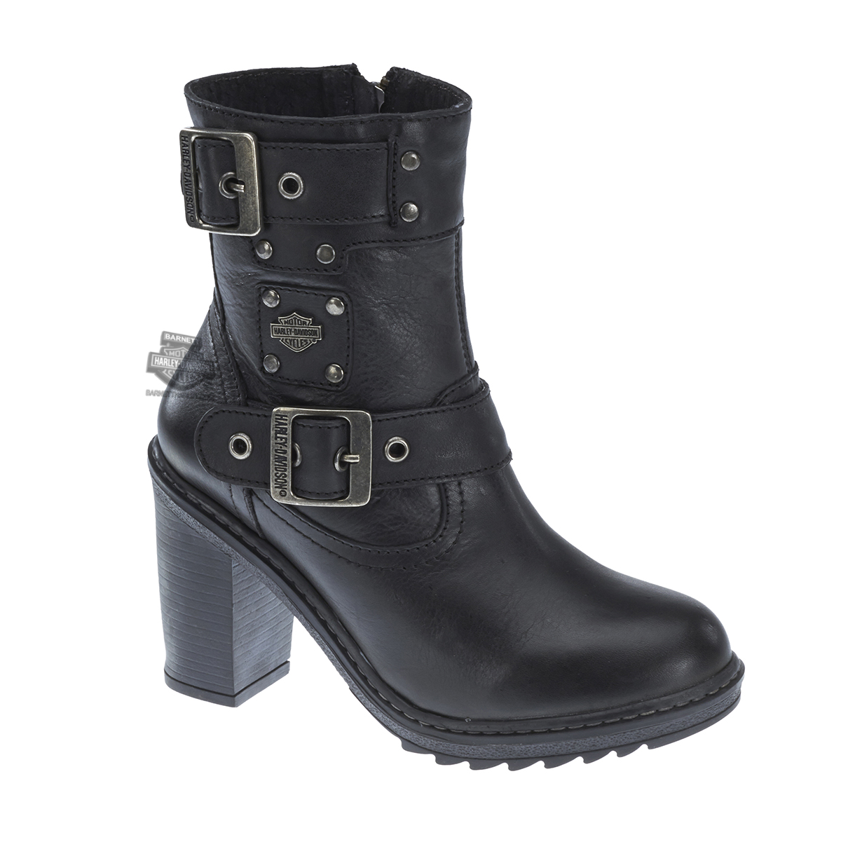 83831 Harley Davidson 174 Womens Ludwell Black Leather Mid