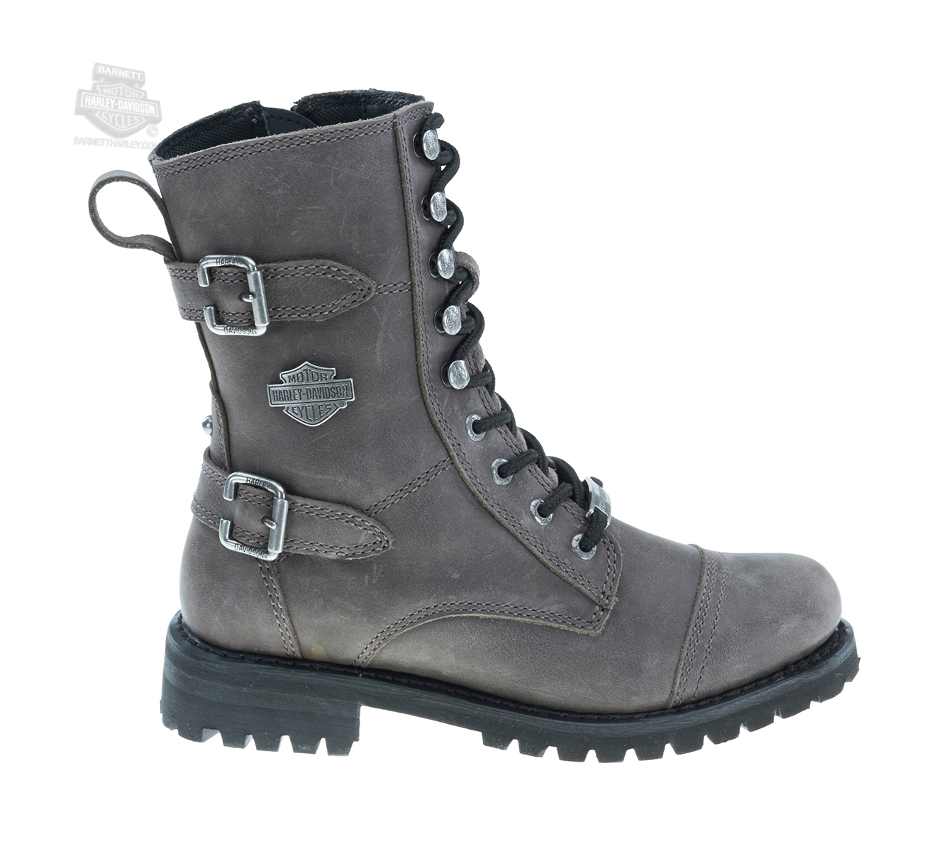 efd1ba4e114 83855 - Harley-Davidson® Womens Balsa Grey Leather Mid Cut Boot ...
