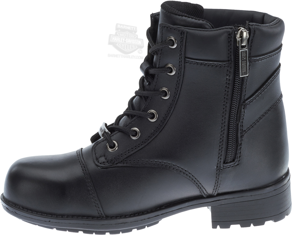 83883 harley davidson 174 womens raine steel toe black leather low cut boot barnett harley