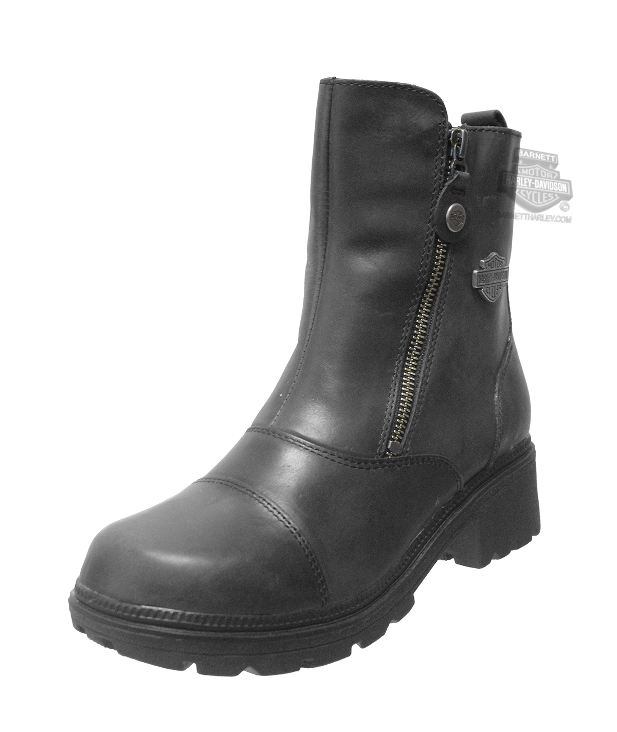 5daccc45b62 84236 - Harley-Davidson® Womens Amherst Black Leather Low Cut Boot ...