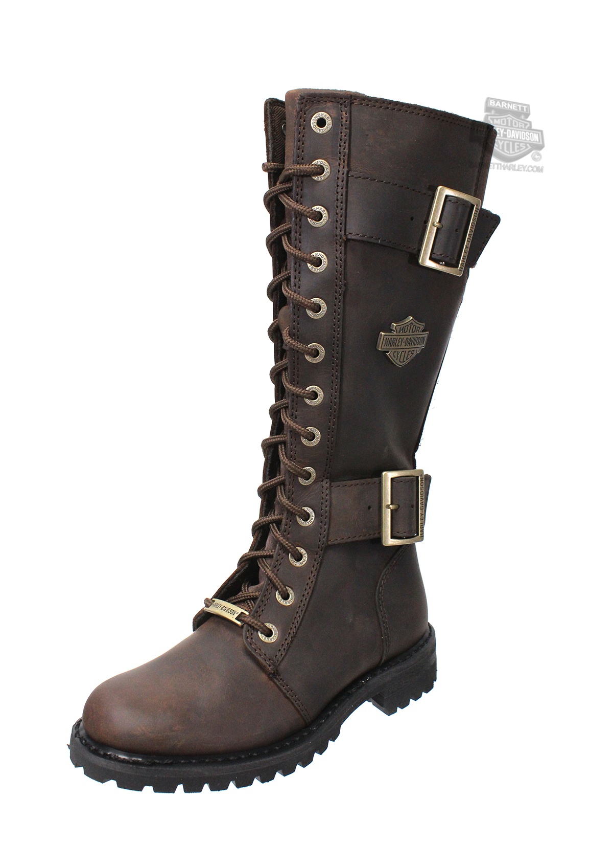 Lastest Womenu0026#39;s FRYE Harness Boots Brown Leather Motorcycle Biker