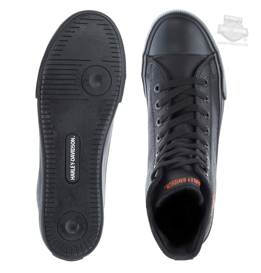 073d3f930101 ... Harley-Davidson® Mens Baxter with Orange Willie G Skull Black Leather  Casual Shoe. Tap to expand