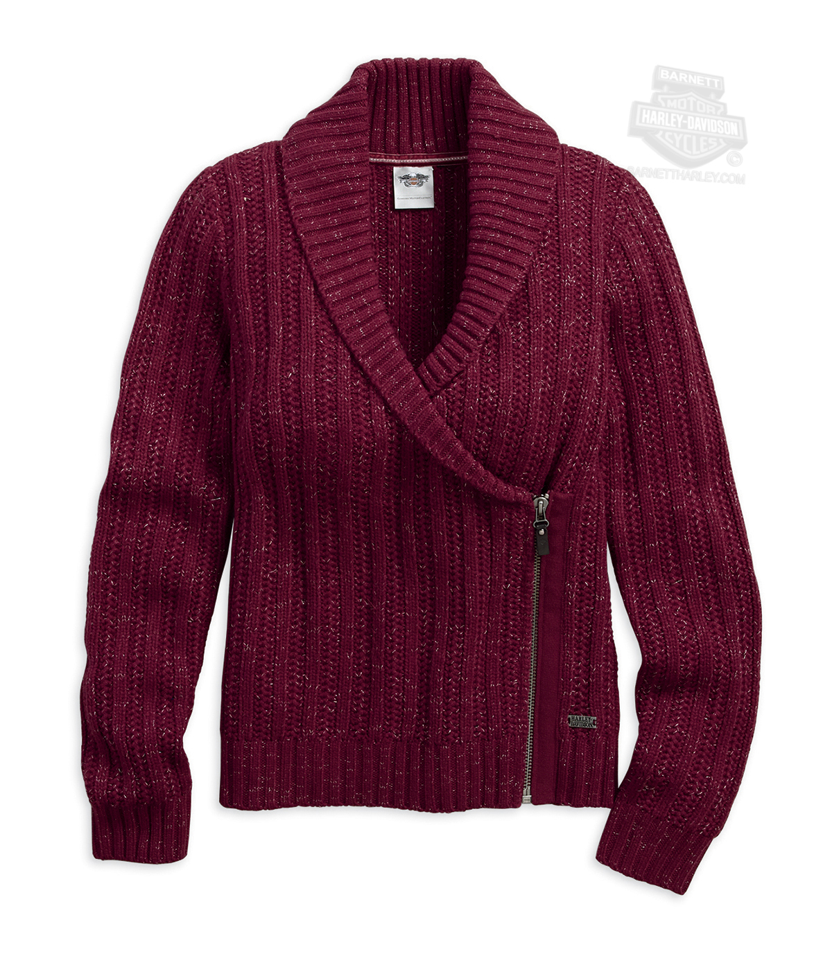 Women'S Lurex Red Sweater 73