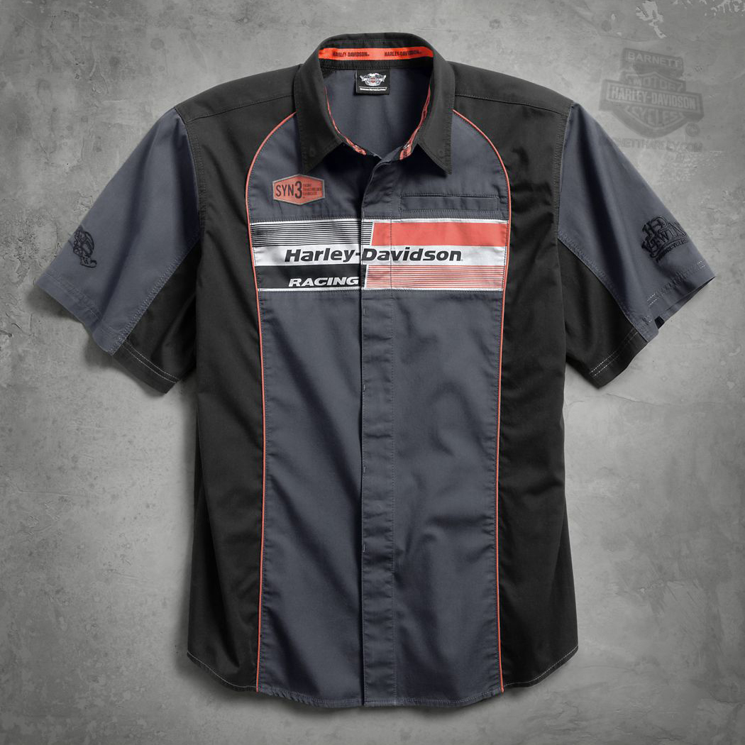 size 3x only ** harley-davidson® mens syn3™ racing with contrast
