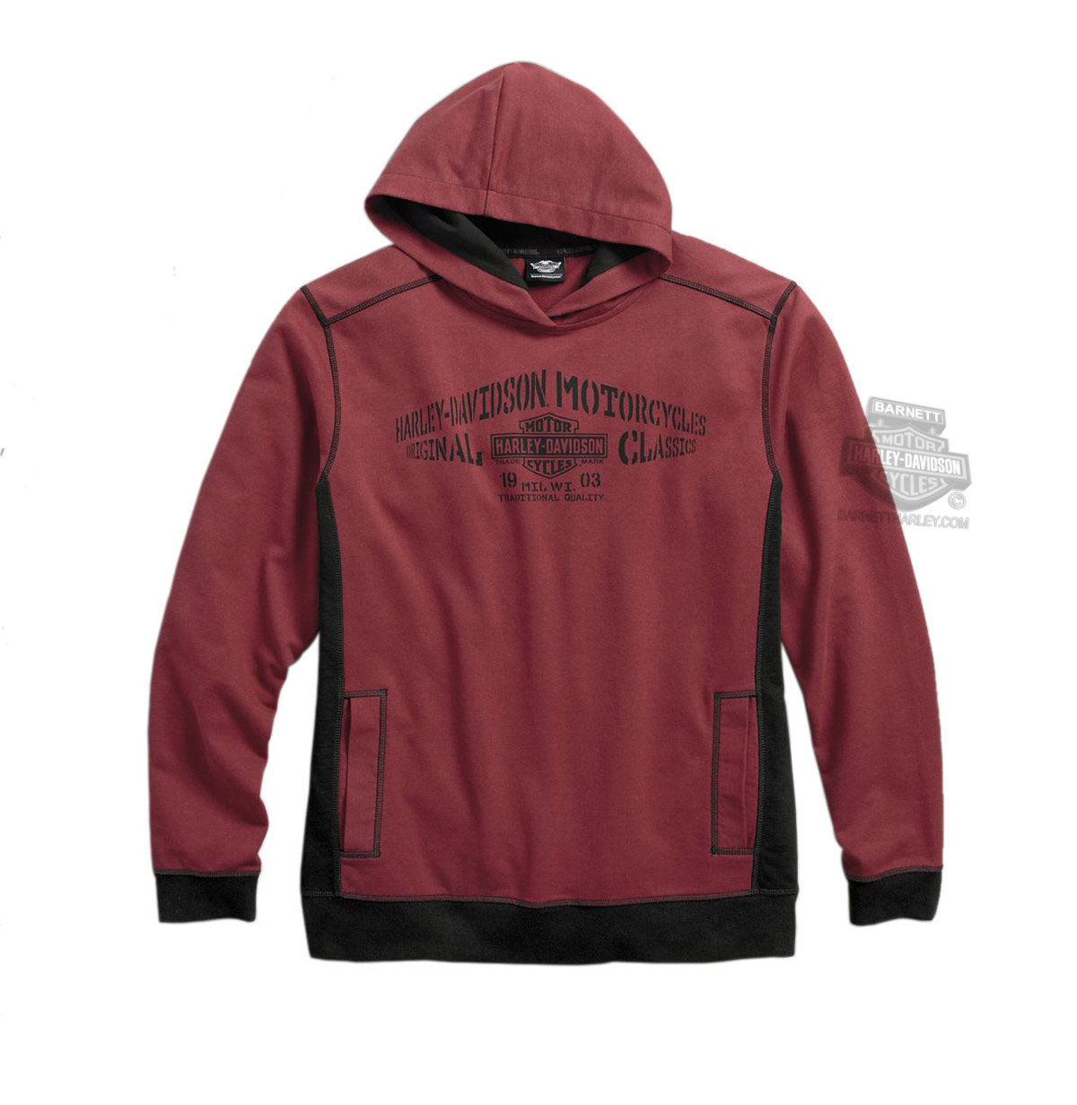 harley davidson mens classics trademark b s hdmc pullover. Black Bedroom Furniture Sets. Home Design Ideas
