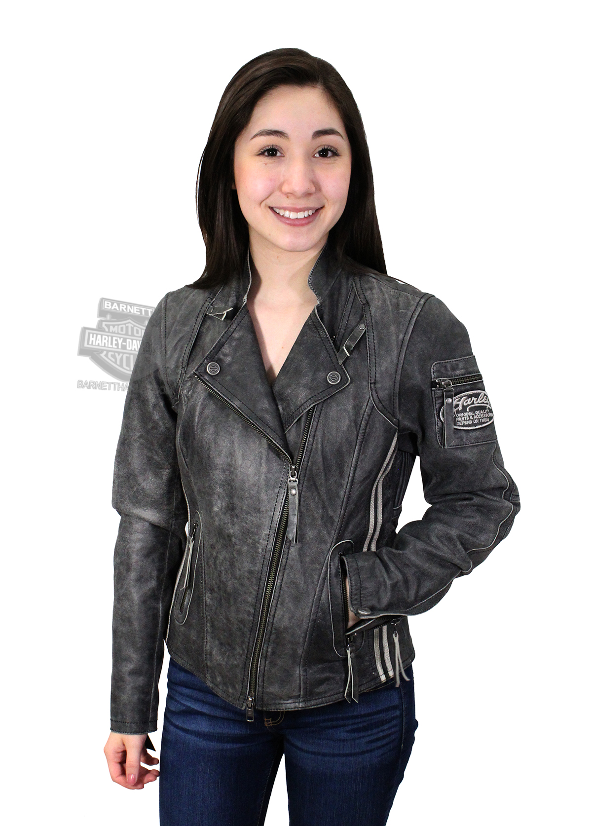 Black leather jacket x small