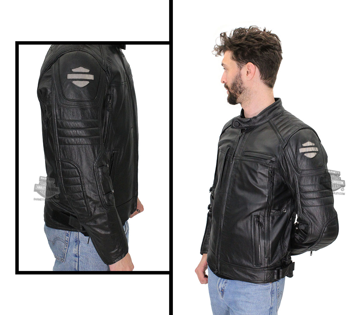 Lightweight black leather jacket