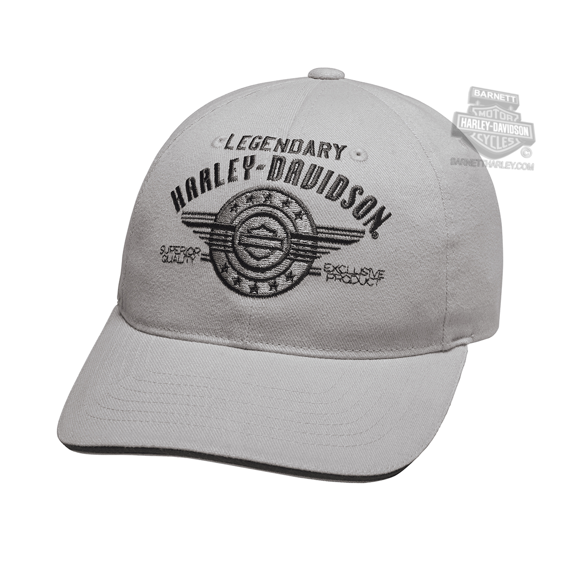 aa358f7e 97838-19VM - Harley-Davidson® Mens Legendary Logo B&S Grey Cotton ...