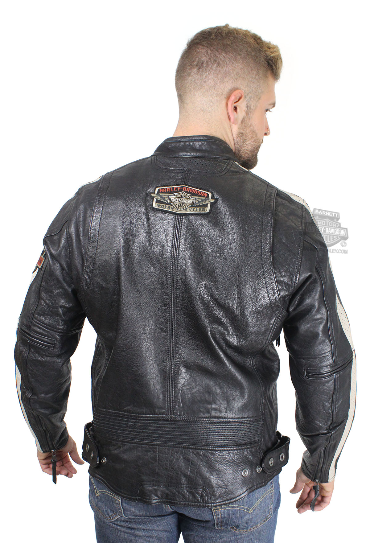 Harley Davidson 174 Mens Command Winged B Amp S Perforated