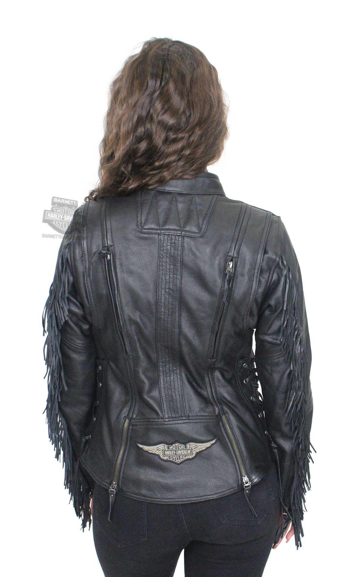 Harley Davidson 174 Womens Boone Fringed Winged B Amp S Patch