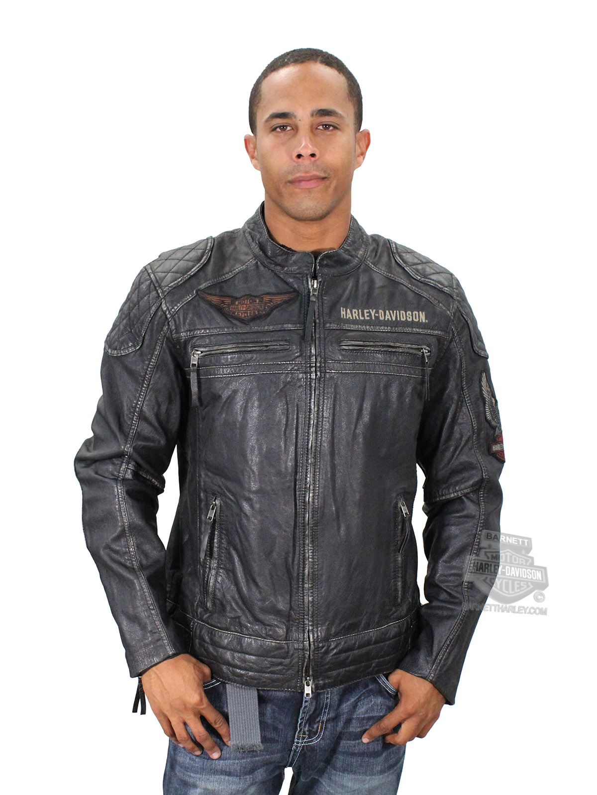 SIZE X-LARGE ONLY ** Harley-Davidson® Mens Annex Winged B&S ...