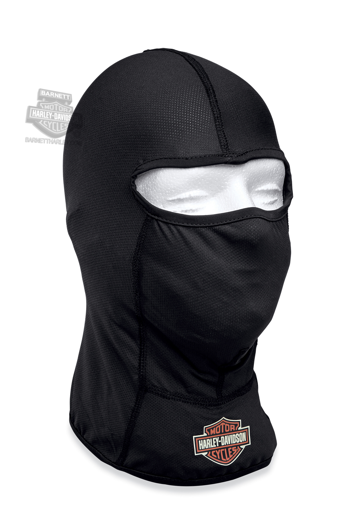 Harley-Davidson® Mens B&S Logo with Coolcore™ Technology Black Polyester Balaclava