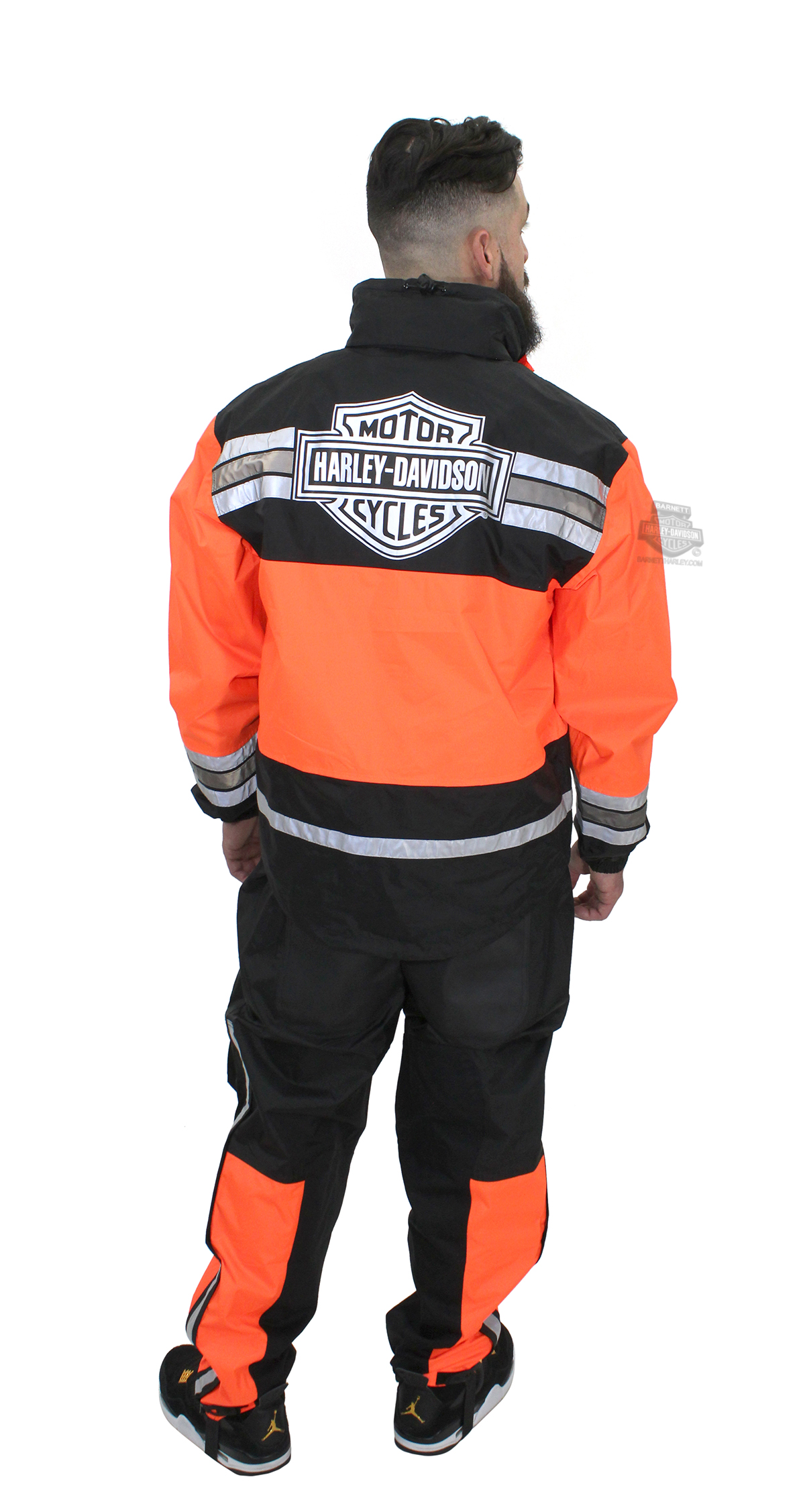 Harley-Davidson® Mens Rainwear HI Visibility Orange Rainsuit