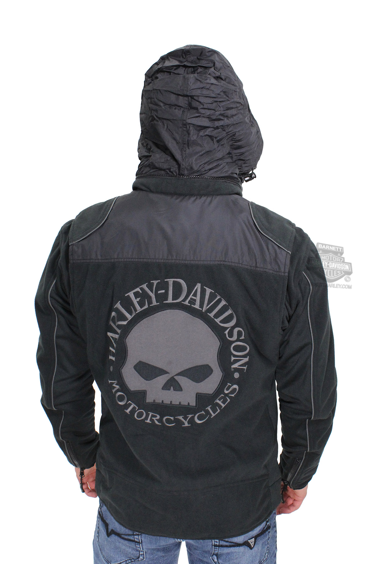 D And D Auto >> Harley-Davidson® Mens Willie G Skull Windproof Fleece with Thermal Lining Black Casual Jacket