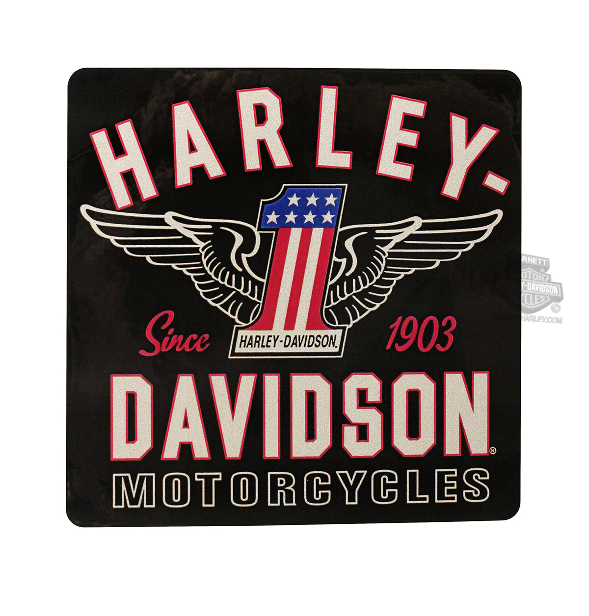 Harley-Davidson® Red, White & Blue #1 Wings Decal