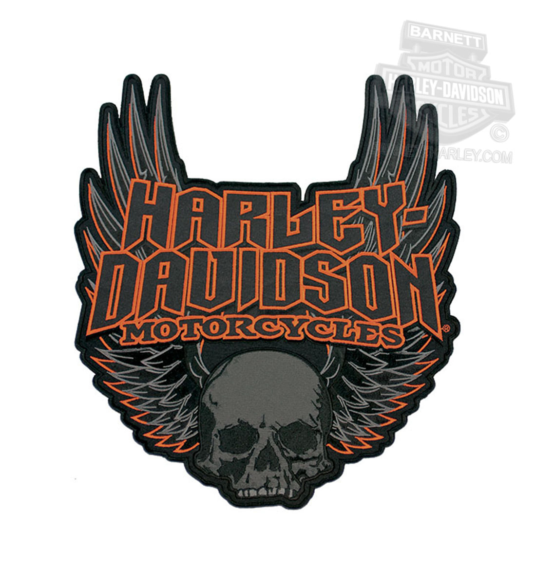 Harley Davidson 174 Gothic Wings Skull 3x Patch