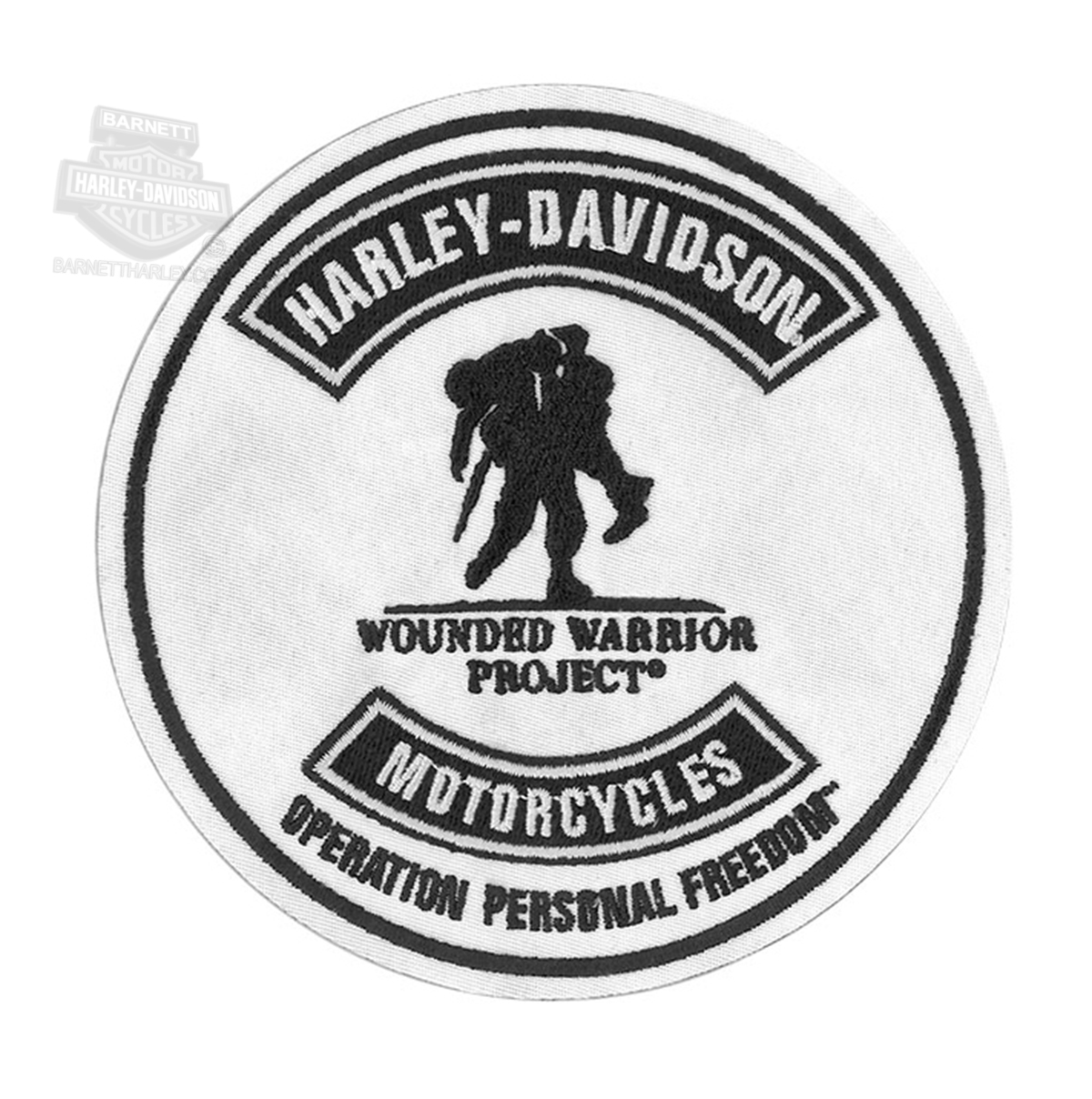 Harley Davidson 174 Mens Wounded Warrior Project 174 Round Patch