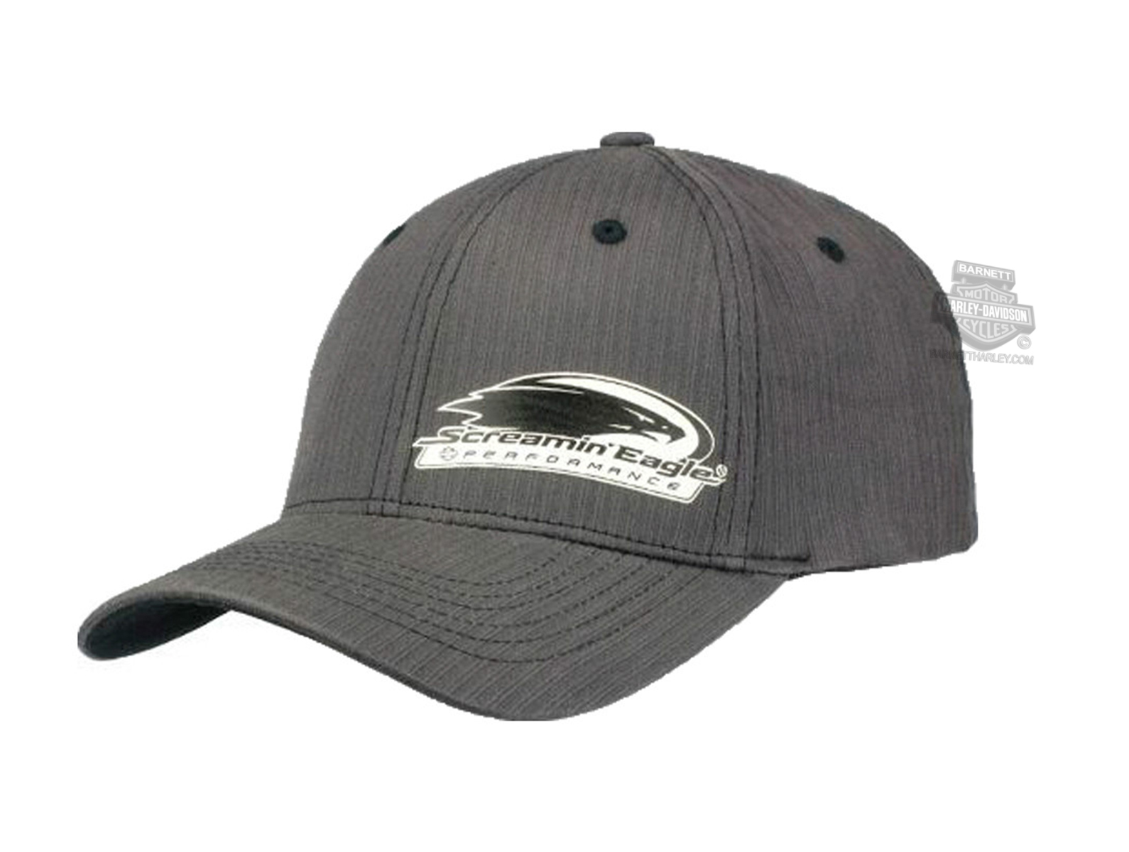 Harley-Davidson® Mens Screamin Eagle Alter Ego Stripe Grey Stretch Fit Baseball Cap