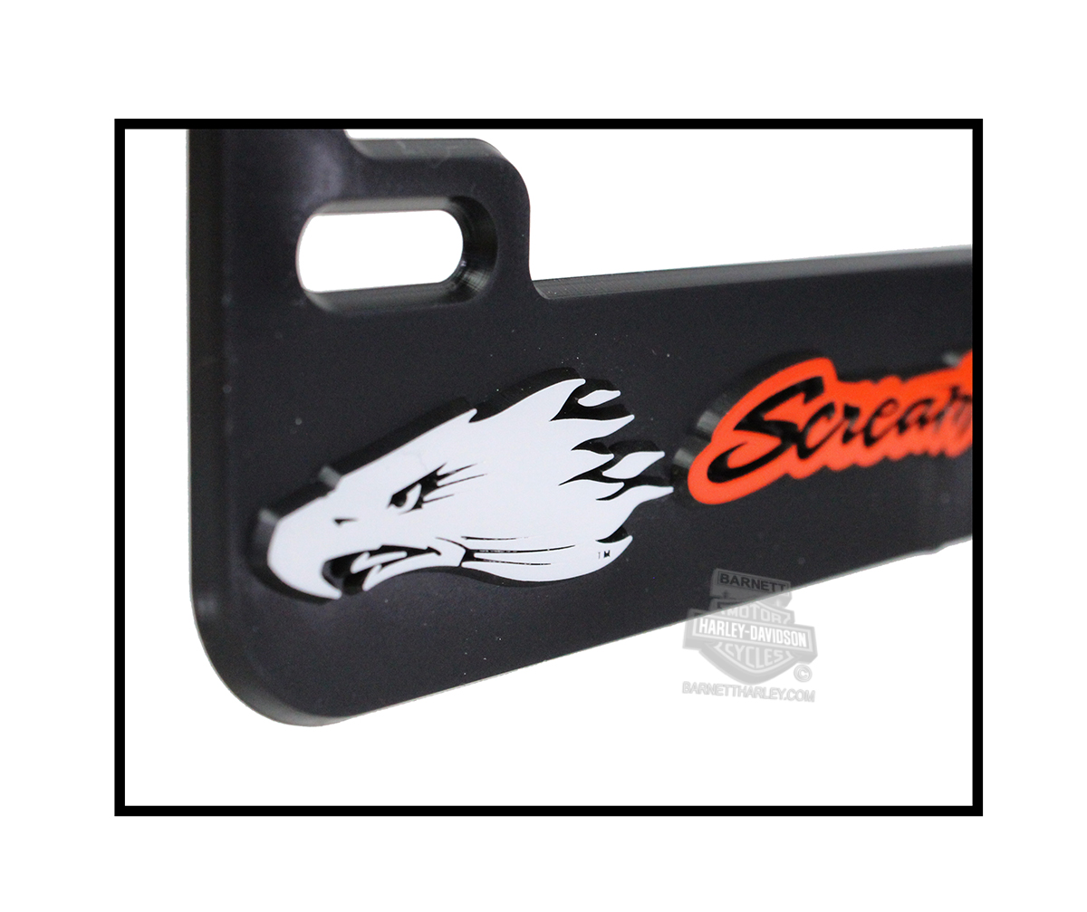 harley davidson mens screamin eagle motorcycle black license plate frame harlnv0093