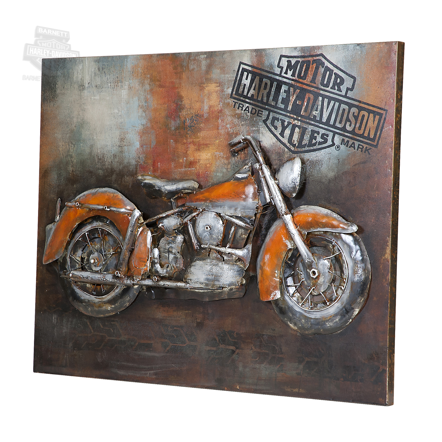 harley davidson tin wall art h wall decal. Black Bedroom Furniture Sets. Home Design Ideas