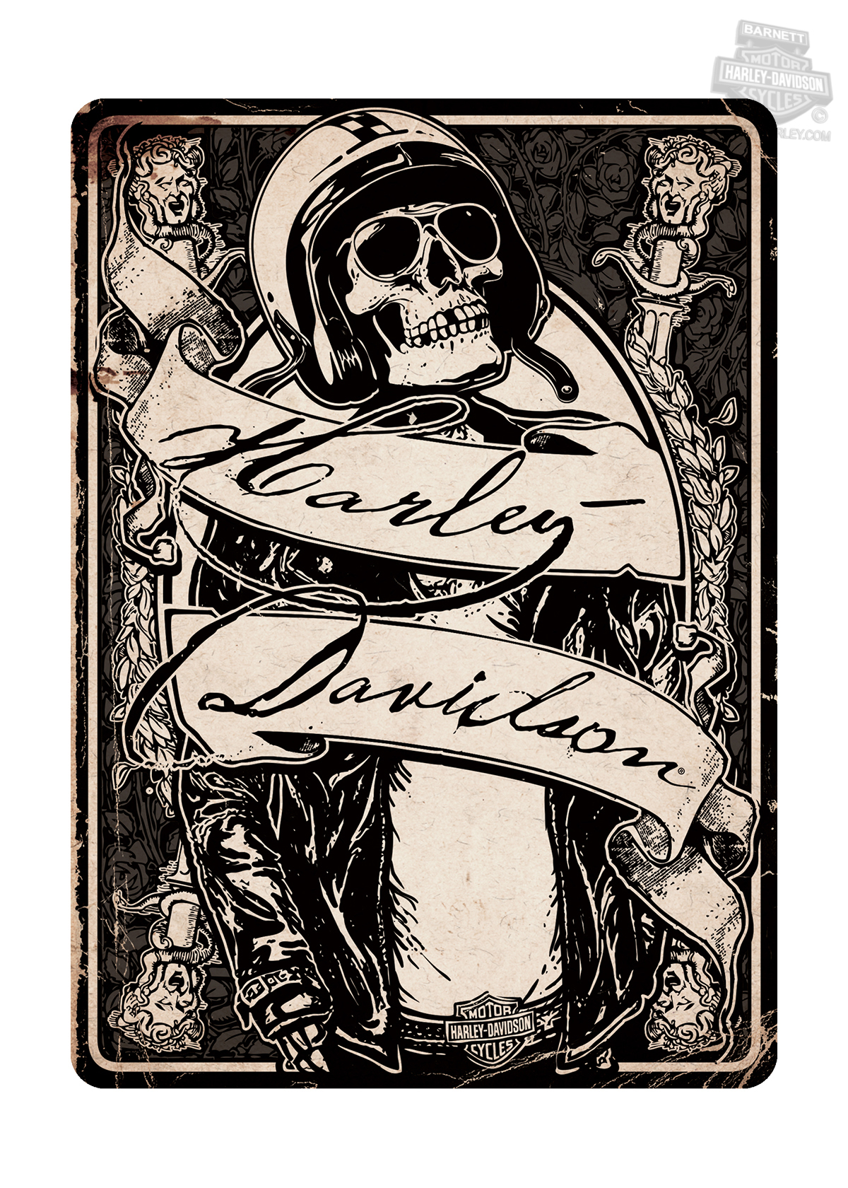 Hdl 20062 harley davidson skeleton rider all occasion greeting harley davidson skeleton rider all occasion greeting card tap to expand m4hsunfo
