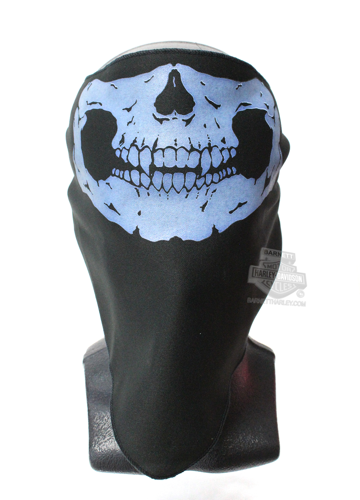 Mens Defleshed Skull with Glow in the Dark Ink Black Microfiber Facemask By Hair Glove®