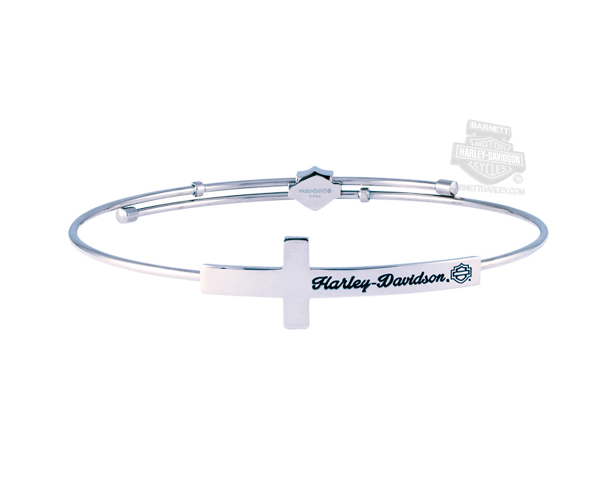 wire graduation bangle cap cross bangles products kis and jewelry with bracelet silver