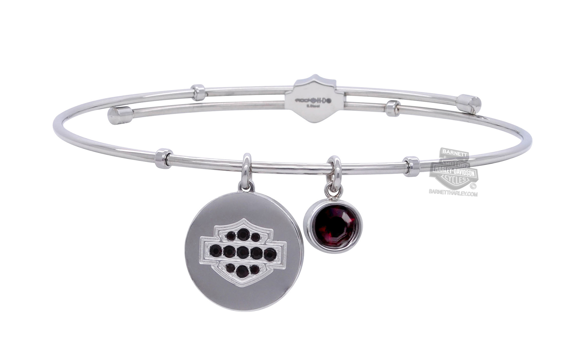 small personalized products birthstone garnet natural january round bezel set square danique bracelet quartz earrings