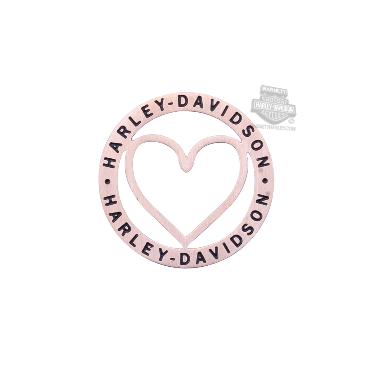 Harley-Davidson® Womens Stainless Steel Large Pink Color Outline Heart Locket Plate by Mod Jewelry®