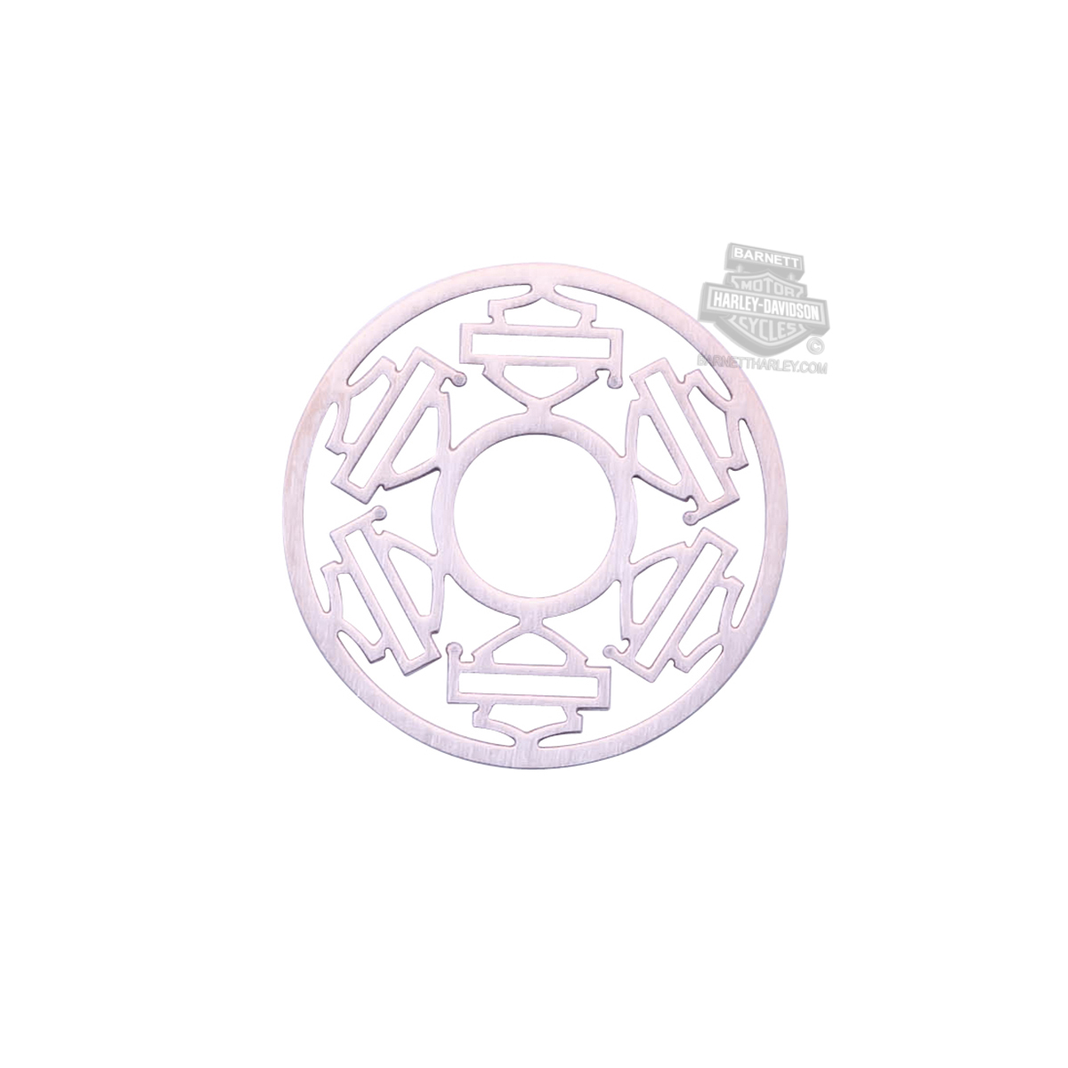 Harley-Davidson® Womens Stainless Steel Large Pink Color Outline Multiple B&S Locket Plate by Mod Jewelry®