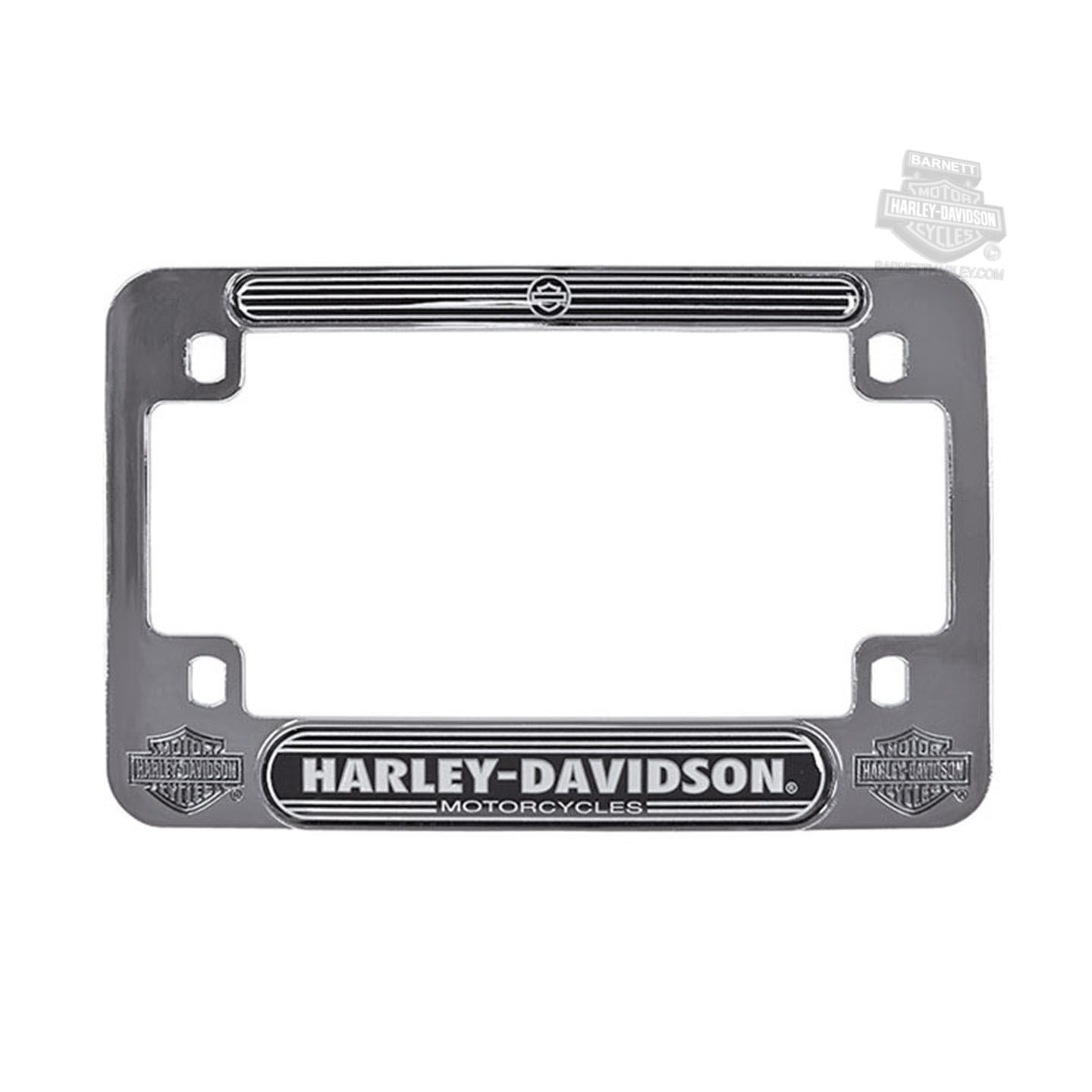 Harley-Davidson® H-D Name with B&S Logos Metal with Chrome Insert Motorcycle License Frame