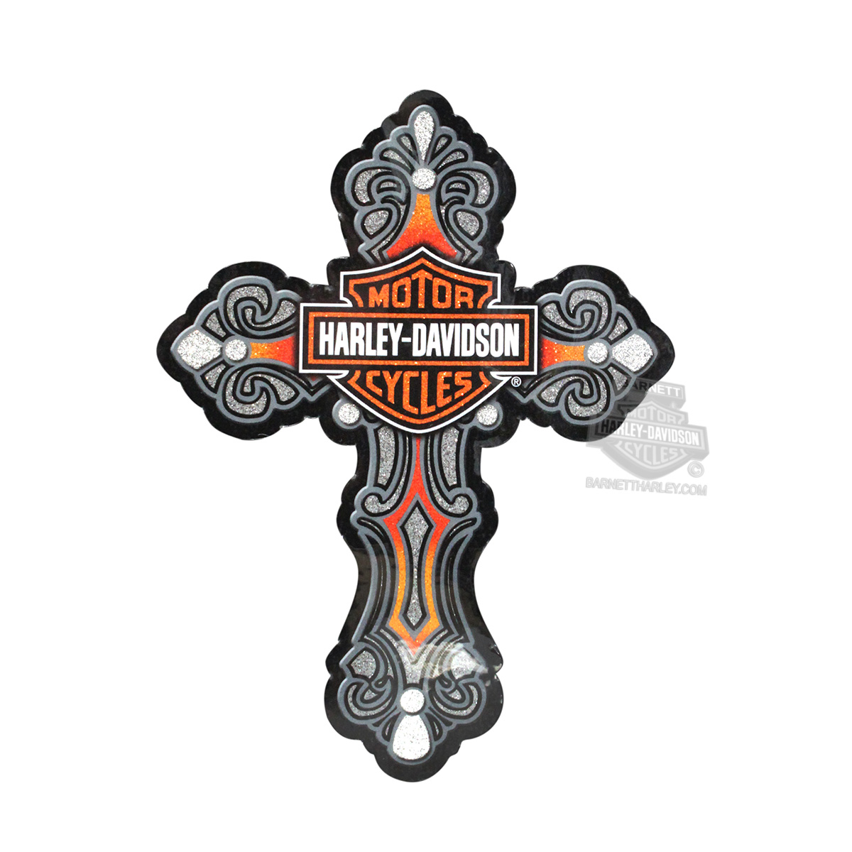 Harley-Davidson® H-D Cross with B&S Glitter Sticker