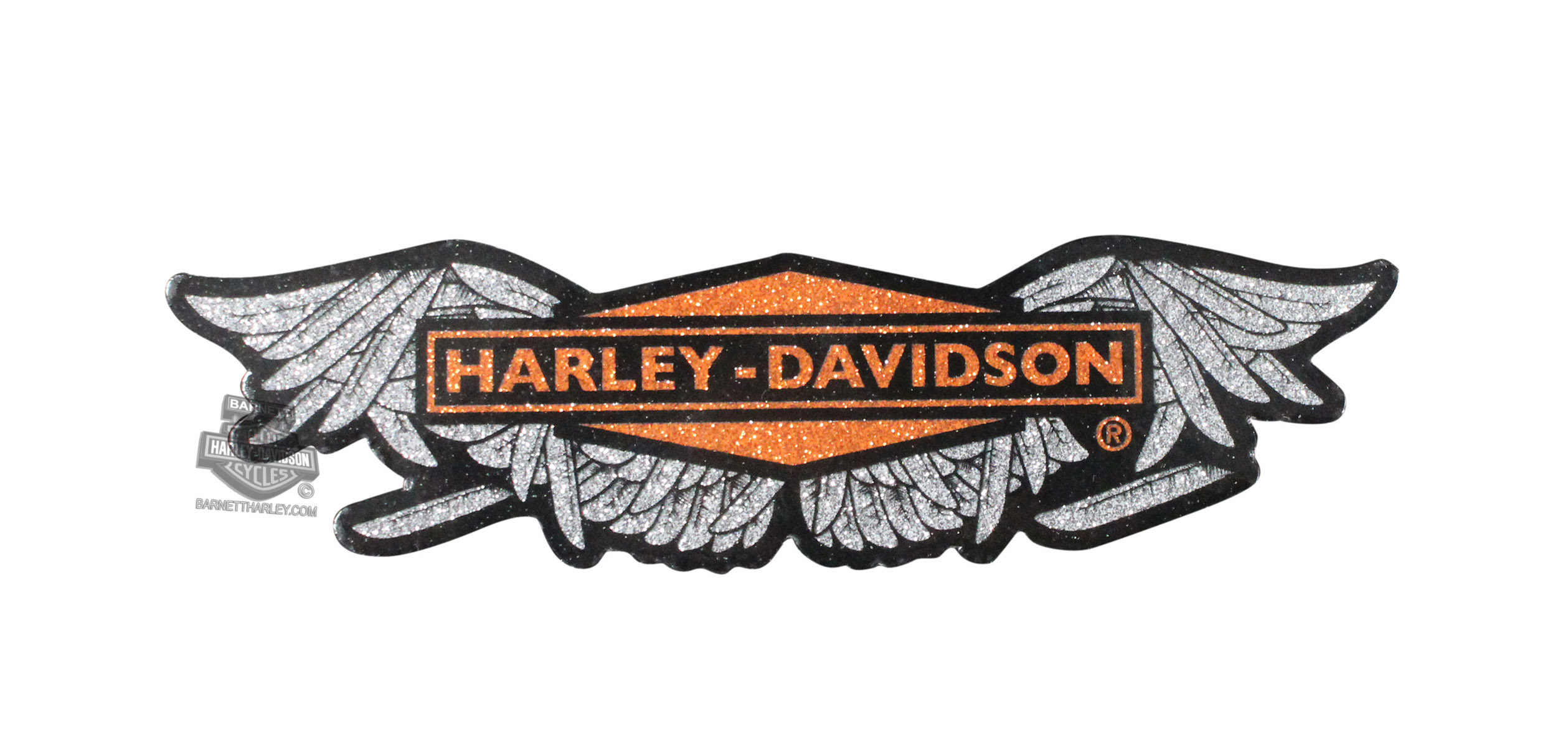 Harley-Davidson® Womens Broken Wings Glitter Sticker
