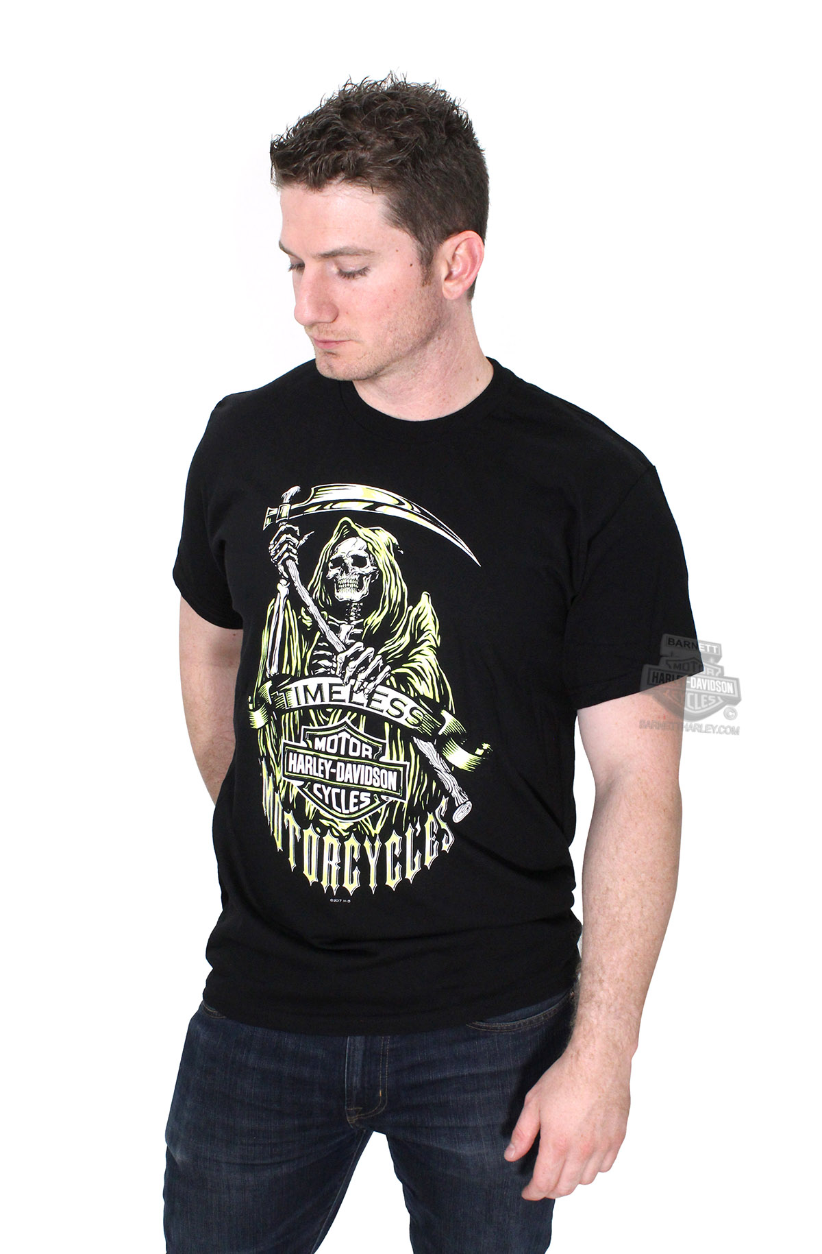 Harley-Davidson® Mens Reap Timeless Motorcycles with B&S Black Short Sleeve T-Shirt