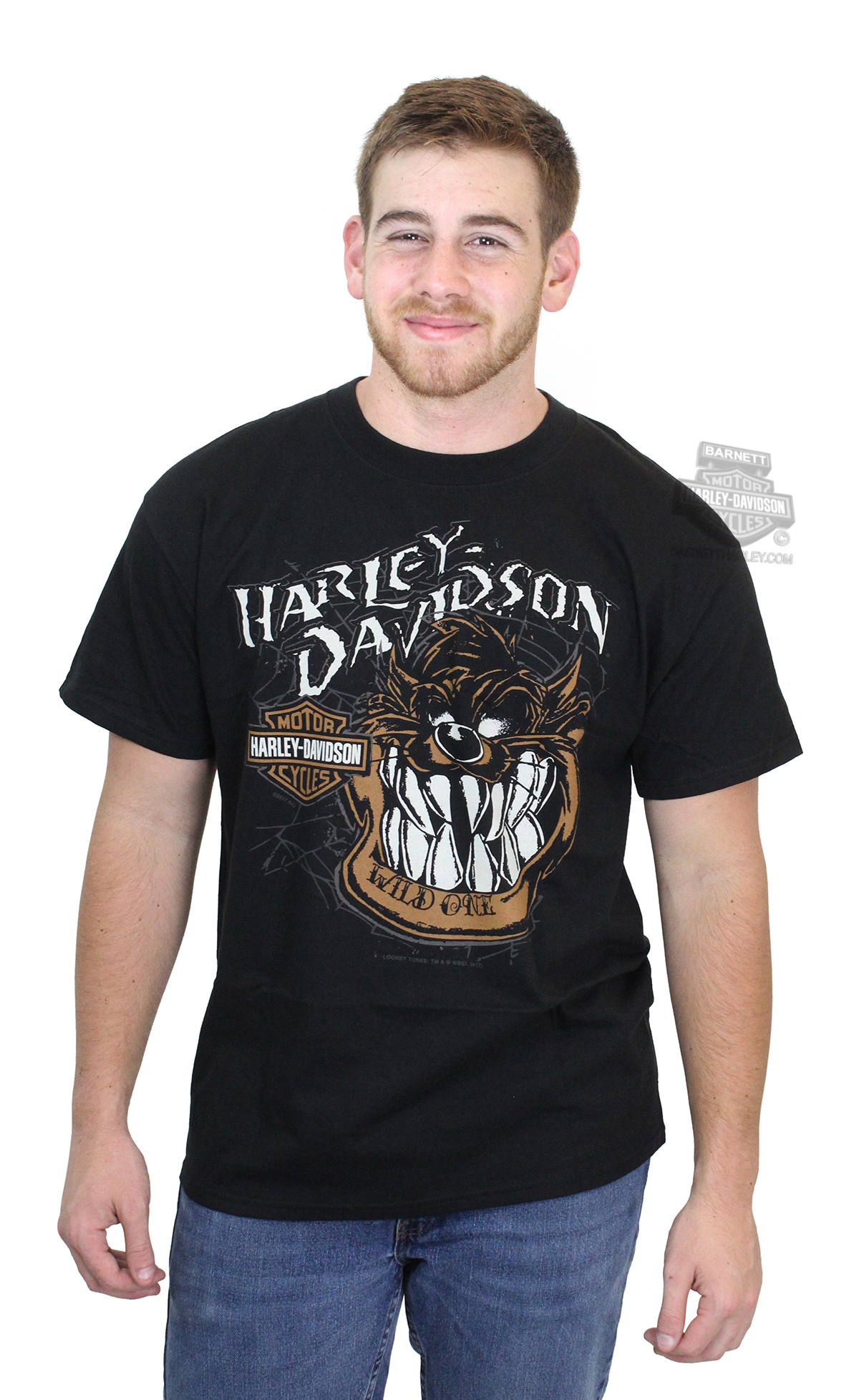 Harley-Davidson® Mens WB Wild Taz Spider Web Black Short Sleeve T-Shirt