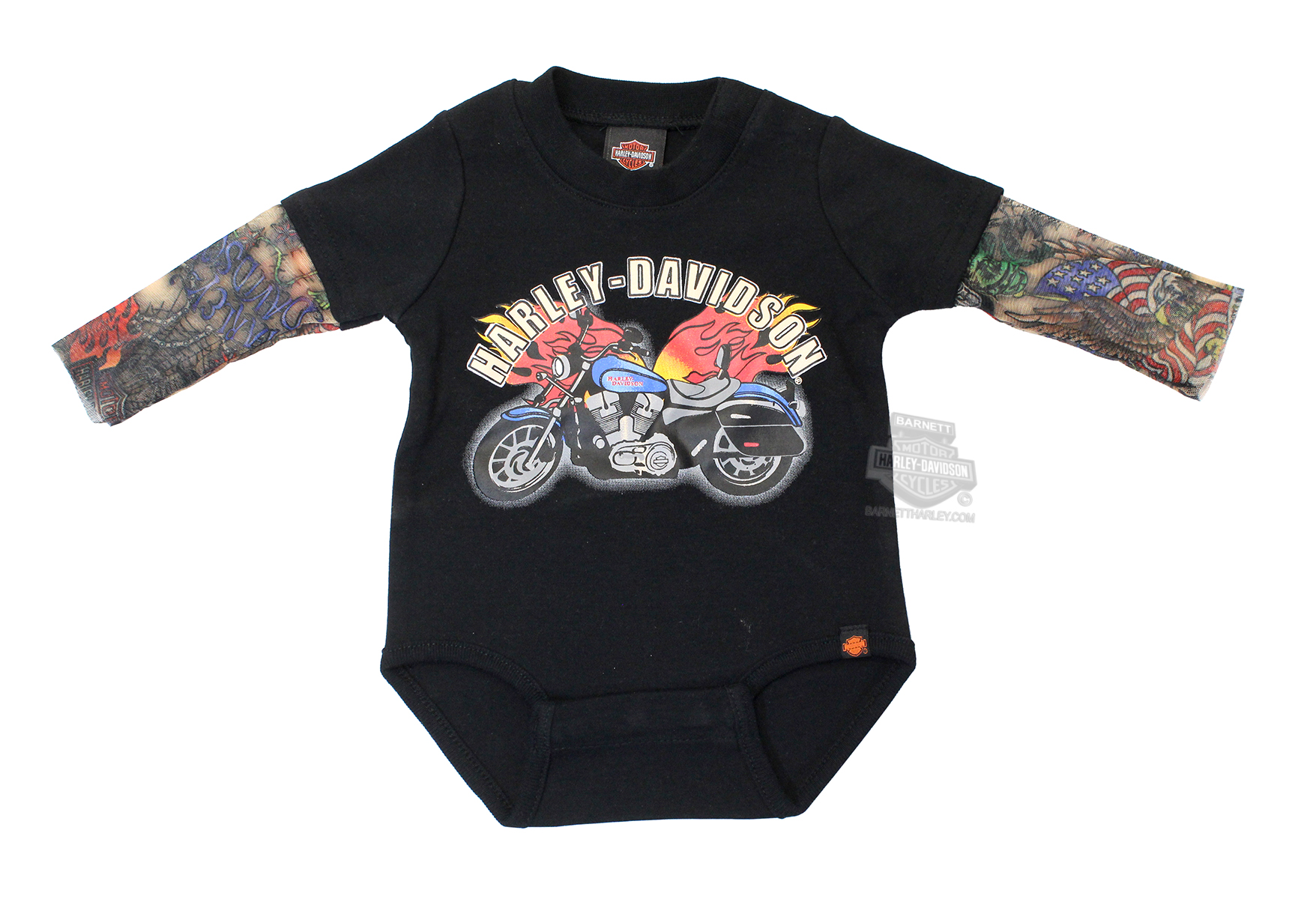 8cc7c29f7e7 SG30-0641 - Harley-Davidson® Boys Baby Flaming Motorcycle with ...