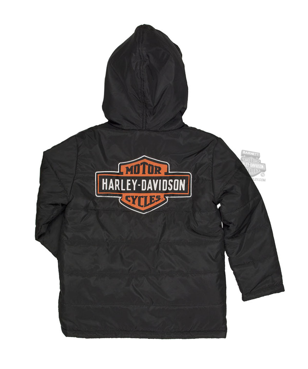 Harley-Davidson® Boys Youth #1 Logo Packable Puffer Black Jacket