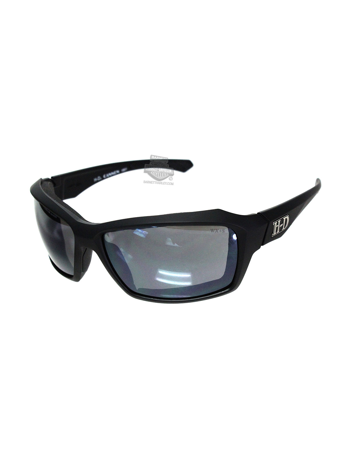 Harley-Davidson® HD Cannon Silver Flash Smoke Grey Lens in a Matte Black Frame Sunglasses by Wiley X®