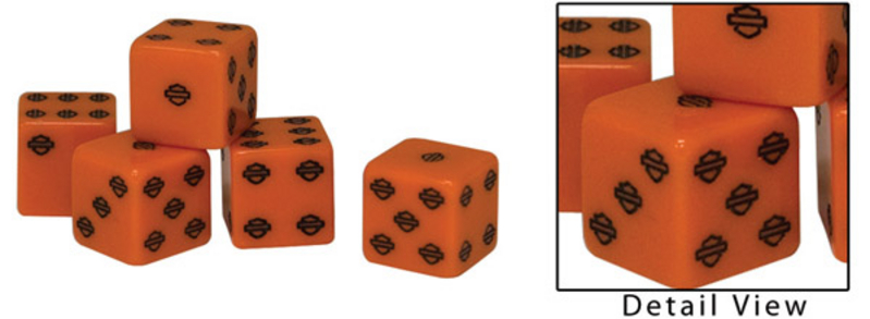 Harley-Davidson® H-D Orange Dice - Single