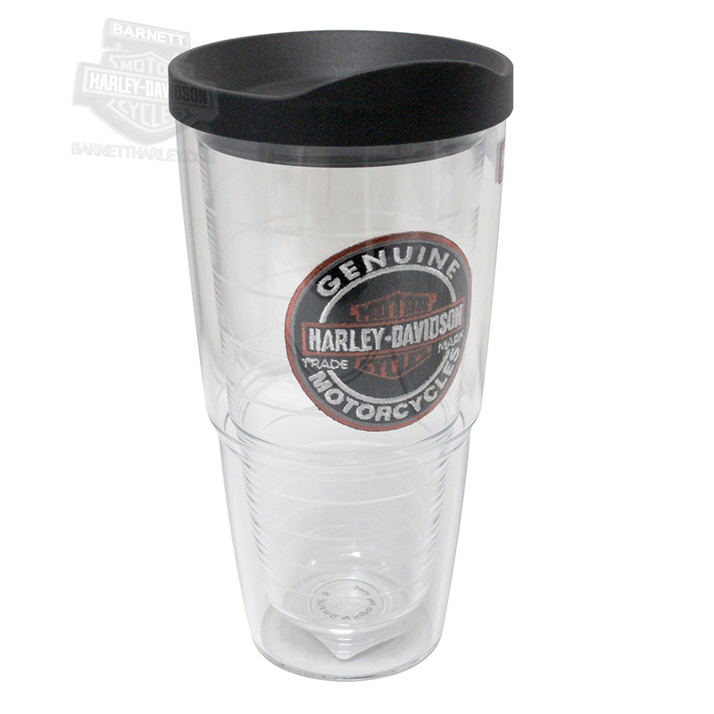 Harley-Davidson® Mens Trademark B&S Oval Emblem 24 oz Cup By Tervis