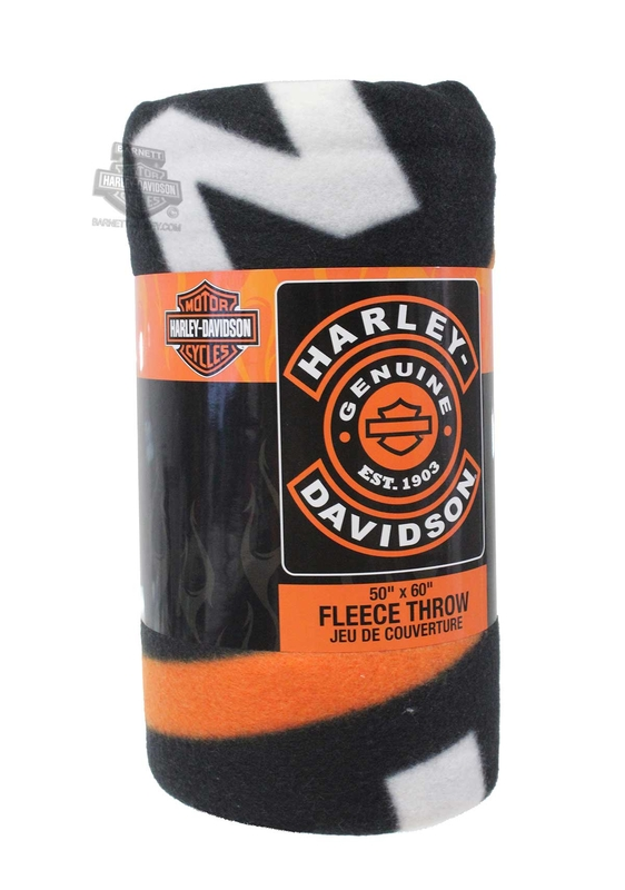 Harley-Davidson® Mens Syndicate B&S 50 x 60 Fleece Black Blanket 50
