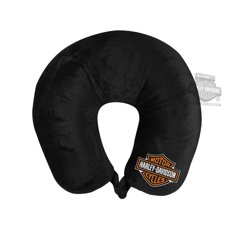Harley-Davidson® B&S Logo Black Neck Pillow
